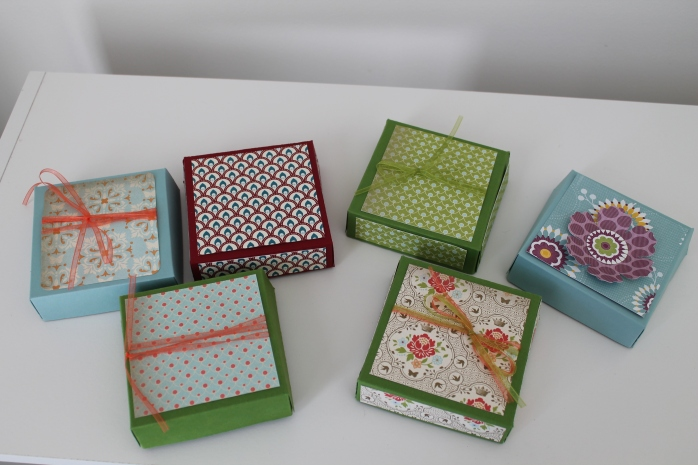 Stampin' up! 3x3 boxes_craft fair